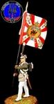 Знаменосец гвардейских пехотных полков 1812 г.Россия