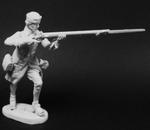 Шведский мушкетер пехотных полков стреляющий стоя 1700-21 гг
