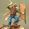 Германец с большим римским щитом и топором