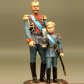Император Николай II с сыном