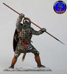 Русский пеший тяжеловооруженный копейщик 1242 г