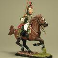 Офицер-знаменосец на коне