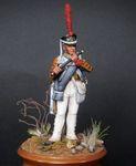 Флейтист гвардейских пехотных полков Россия 1812-15 гг