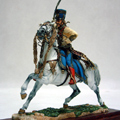 Сержант 5-го гусарского полка на коне
