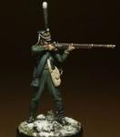 Унтер-офицер полков Гвардейской пехоты Россия 1812-14 гг
