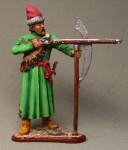 Московский стрелец полка Василия Бухвостова, стреляющий из пищали