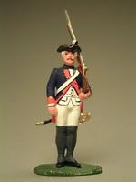 Мушкетёр с ружьём на плече 20 пехотный полк