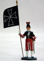 Пехотинец с флагом
