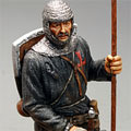 Рыцарь тевтонского ордена с флагом