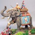 Тигровая охота Раджи на слоне