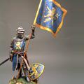 Европейский пеший рыцарь с флагом