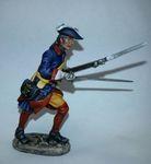 Шведский мушкетер пехотных полков в атаке 1700-21 гг