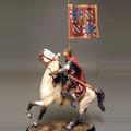 Рыцарь на коне с флагом. XIII - XIV вв.