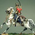 Сержант 4-го гусарского полка на коне