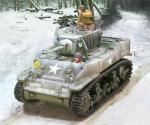 M5 Stuart Tank Winter