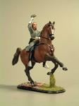 Генерал Пиккет на коне