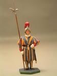 Швейцарец с алебардой, в шлеме, рука вниз