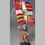 Швейцарец с флагом Папы Бенедикта XVI