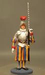 Швейцарец в кирасе с мечом в левой руке