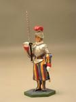 Швейцарец в кирасе с мечом в правой руке